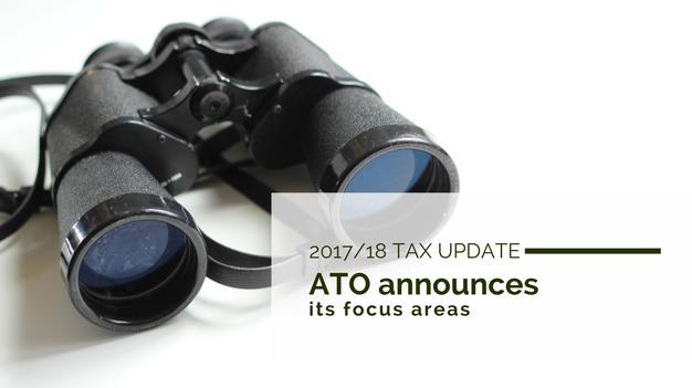 2017/18 Tax Update: ATO announces its focus areas