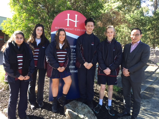 Yihsing and Heathmont College students